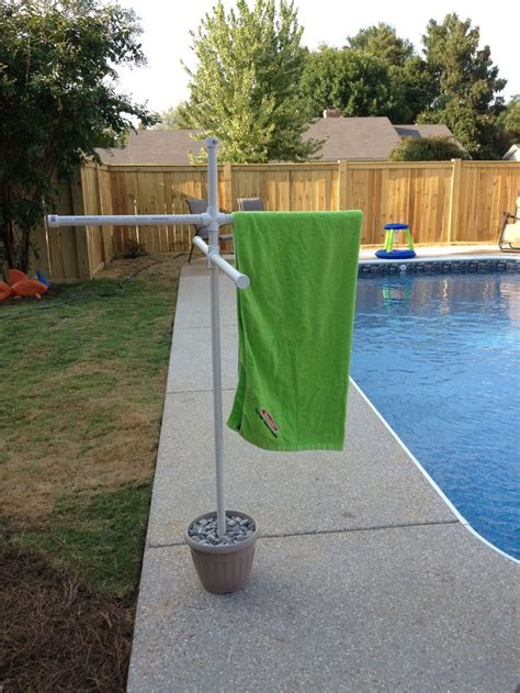 Pool Towel Rack Stand by Home Made Towel Rack For Pool Using Pvc Pipe Pvc Pipe