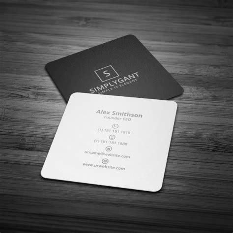 17 Minimal Business Card Designs Templates Psd Ai Free Premium Templates Square Business Card Template Free