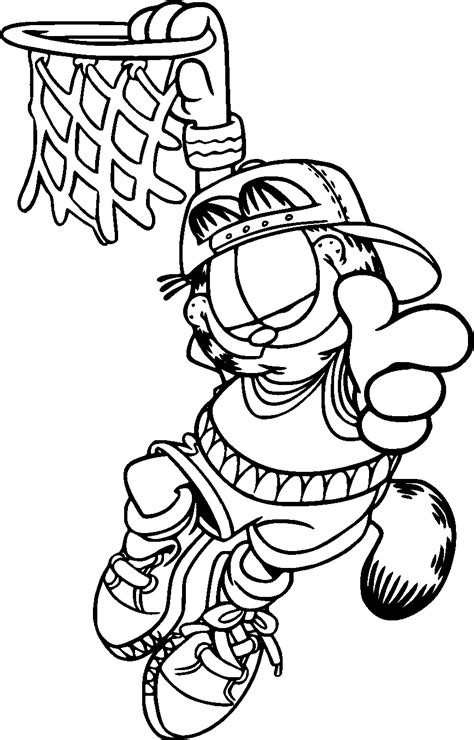 coloring page free free printable garfield coloring pages for kids