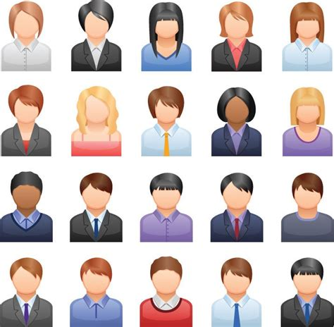 Free Vector Business People Icons | Free Vector Graphics ...