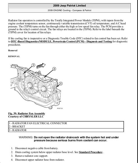motor repair manual 2009 jeep patriot transmission control manual reparacion jeep compass patriot limited 2007 2009 cooling