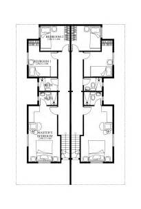 duplex floor plans for narrow lots duplex house plans series php 2014006