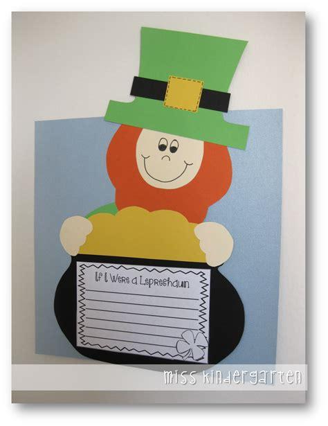leprechaun pattern for kindergarten leprechaun craft miss kindergarten