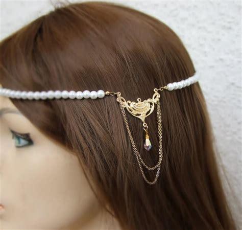 pearl hair style pics bridal pearl hair piece pearl hair crown vintage style