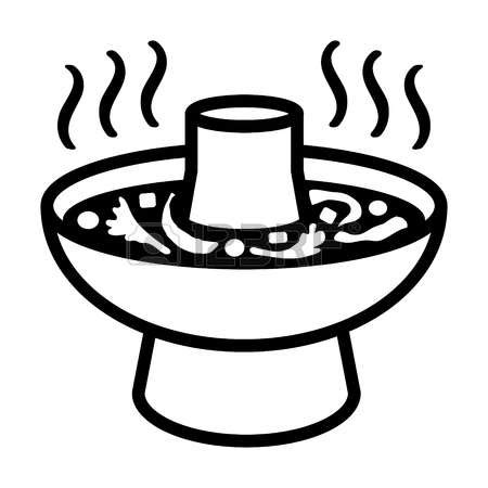 steamboat outline hot pot clipart clipground