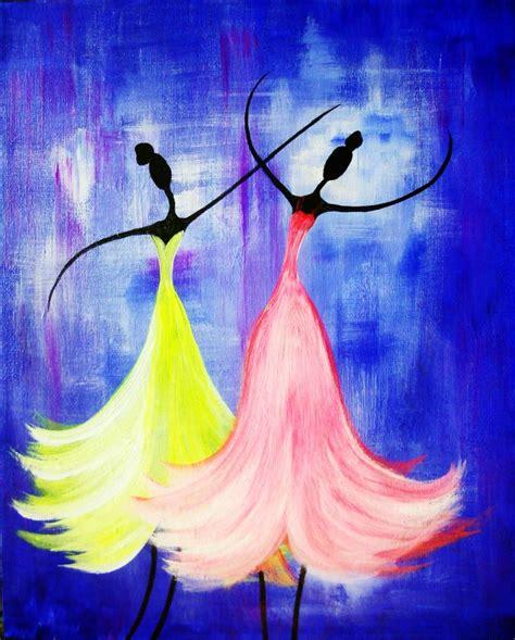paint nite wichita graceful dancers large canvas girly