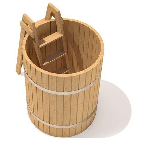 wooden barrel bathtub isidor hot tub spa plunge pool outdoor hottub 110 wooden