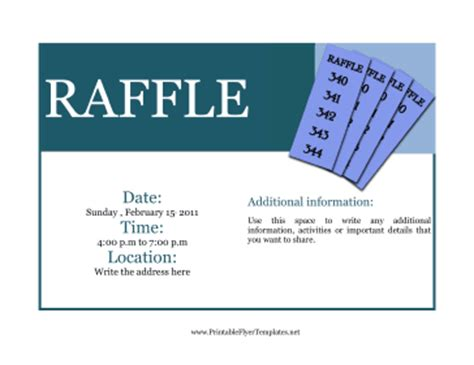 Flyer For Raffle Raffle Flyer Template Word