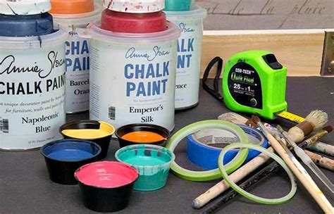 chalk paint mexico how to stencil a mexican talavera tile table diy project