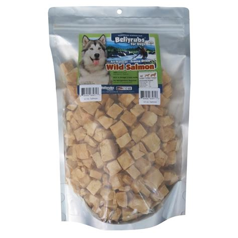 salmon for dogs bellyrubs for dogs freeze dried salmon treats 12 ounces