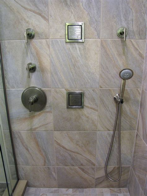 Cultured Marble Vs Corian Swanstone Shower Base With Tile Walls Pictures Of Bathroom