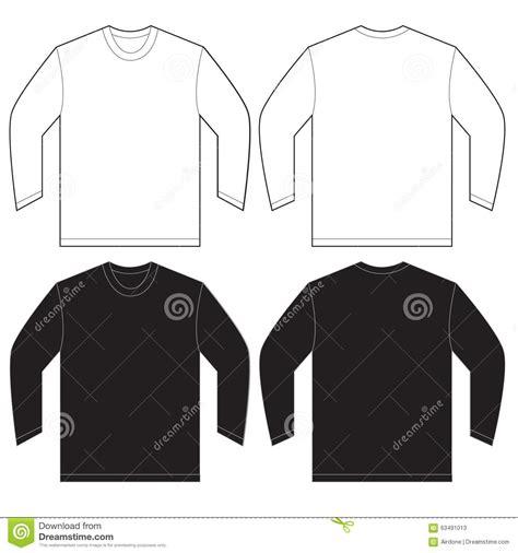 design a long sleeve shirt black white long sleeve t shirt design template stock