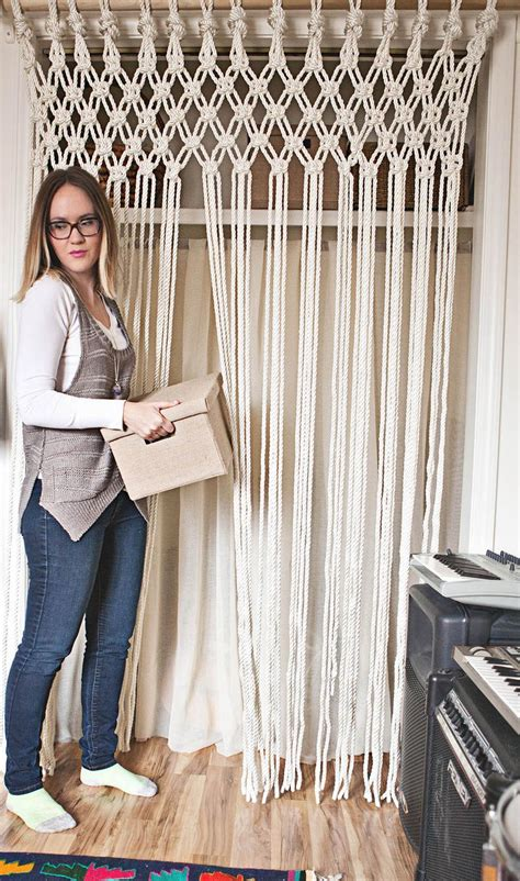 How To Macreme - make your own macrame curtain a beautiful mess