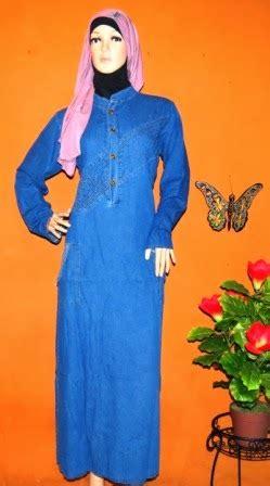 Baju Muslim Gamis Levis Gamis Levis Casual Gj1045 Grosir Baju Muslim Murah Tanah