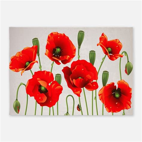 poppy flower rug poppy rugs poppy area rugs indoor outdoor rugs