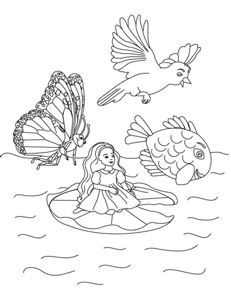 Thumbelina Coloring Page thumbelina 1994 coloring pages coloring pages