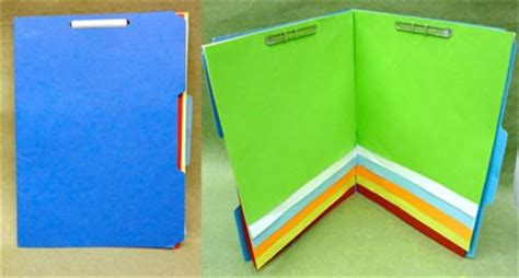 How To Make A Paper File Folder At Home - the file folder book for then vs now projects