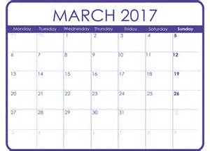 Free Calendar Templates To Print by March 2017 Printable Calendar Templates Free Printable