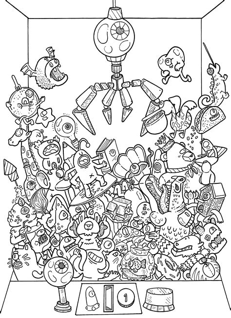 doodles in outer space 1539195775 doodle coloring book doodles in outer space coloring book by irvin ranada