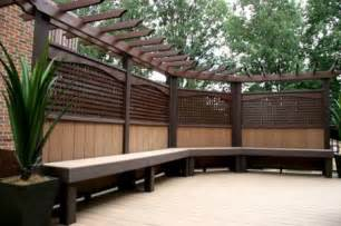 How To Build Deck Benches Delta Decks Toronto Custom Privacy Screens