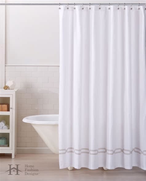 100 cotton shower curtain lucianna collection 100 cotton heavyweight shower curtain