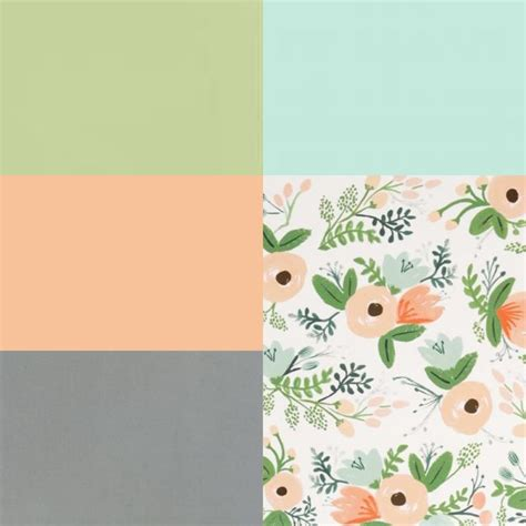 peach and green colour owambe color palette inspiration peach green blue and gray