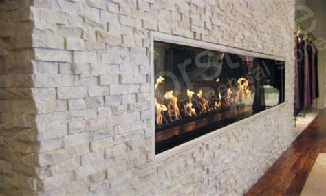 Quartz Ledgestone Fireplace by White Quartz Stacked Veneer For Feature Walls