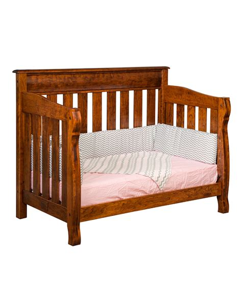 Castlebury Conversion Crib Amish Direct Furniture Crib Converter