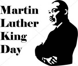 martin luther king day with silhouette martin luther