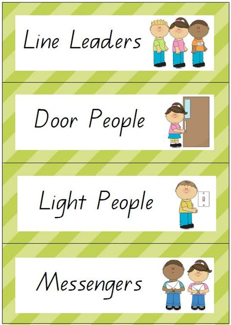printable job cards for classroom classroom jobs printables printable pictures