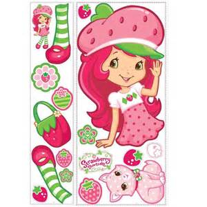 strawberry shortcake bedroom decor mural wall details about and roommate on pinterest