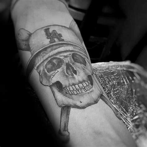 los angeles dodgers tattoos  men baseball ink ideas