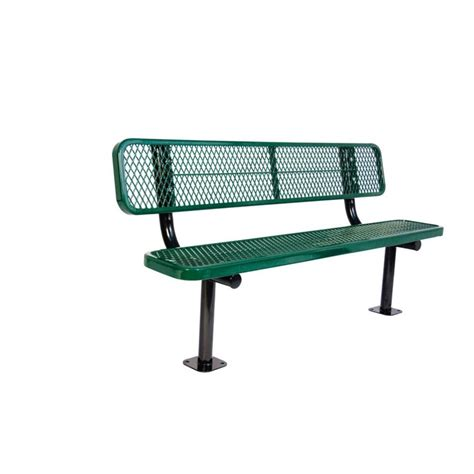 how to play park bench ultra play 6 ft diamond green commercial park bench with
