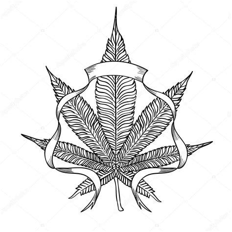 feuille de cannabis 233 l 233 gant image vectorielle 107642918