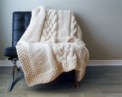 diy knit rug diy knitting pattern throw blanket rug chunky by midknits