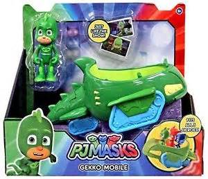 pj masks gekko mobile green car gecko disney junior super hero ebay