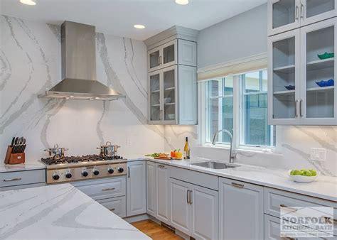 grey showplace kitchen with height backsplash norfolk kitchen bath