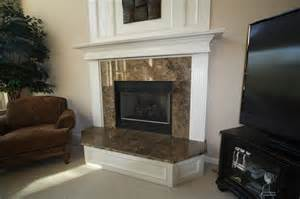 granite fireplace surround traditional family room