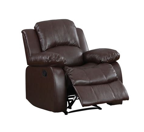 upholstered reclining chairs homelegance 9700brw 1 upholstered recliner chair warm