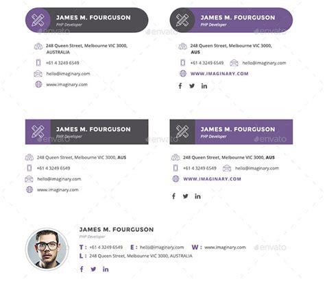 professional email signatures templates 51 awesome email signature templates 2017 html psd