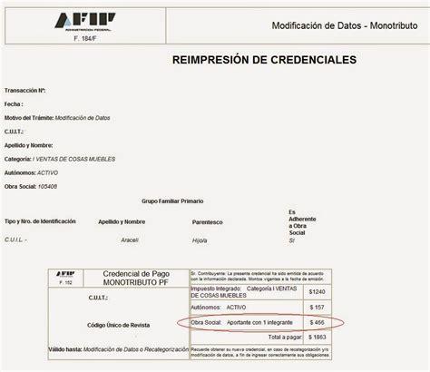 constancia de cai monotributo afip argentina monotributistas recategorizacion dj informativa y