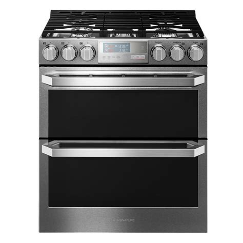Oven Gas Lg lg signature 6 9 cu ft oven slide in gas range in
