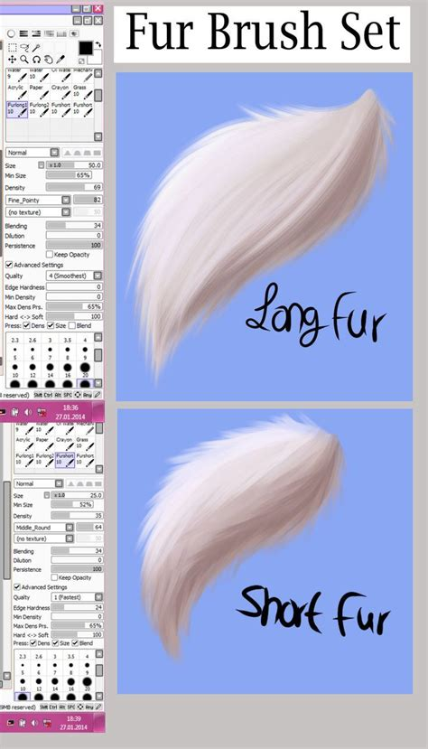 Fashion Book Paint Tool Sai Fur Brush Set By