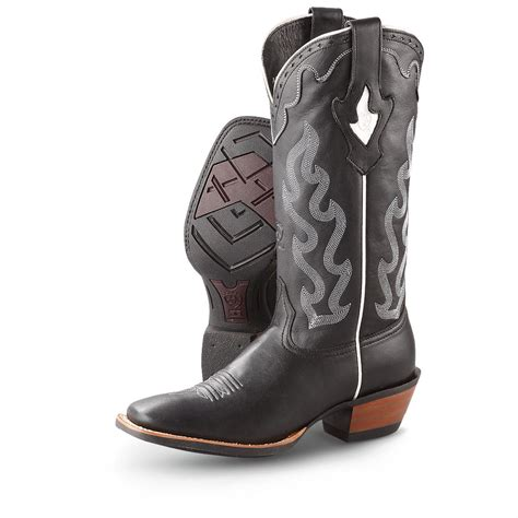 womans boots s ariat 174 crossfire caliente western boots black