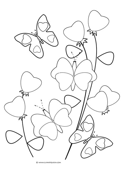 coloring pages of hearts and butterflies 11 valentine s day coloring pages