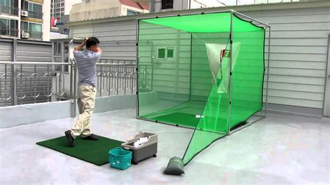 backyard golf net ematgolf nice shot golf swing practice net youtube