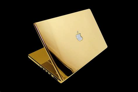 Laptop Apple Gold mj customize apple luxury edition gold diamonds leather fur wood swarovski et
