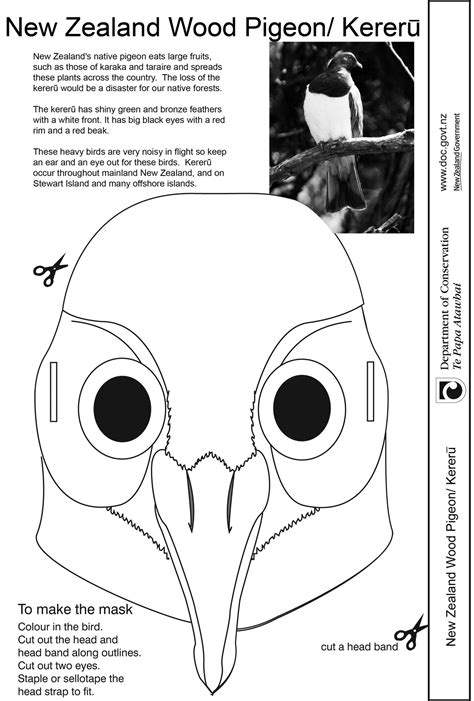 card mask template things to make conservation activities