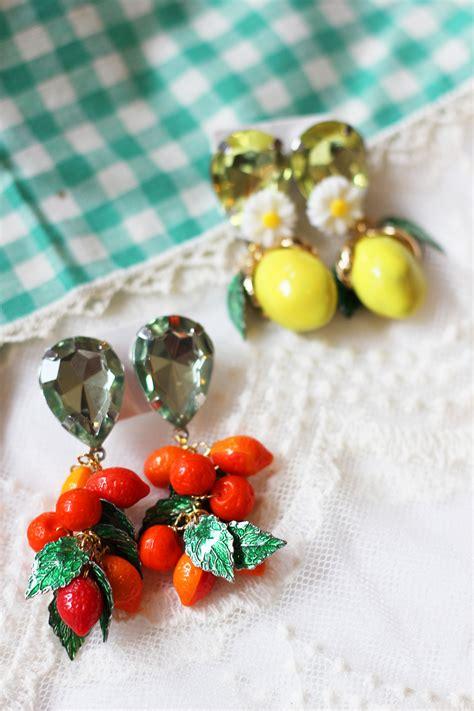 DIY Discount: Dolce & Gabbana Fruit Earrings   HomemadeBanana
