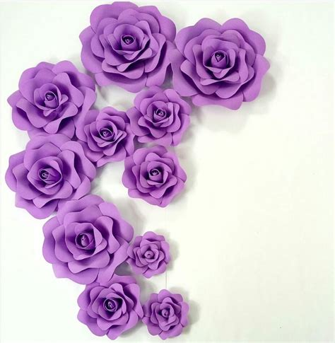 Stars Decorations For Home by Purple Wedding Custom Foam Flower Wall Diy Paper Flower